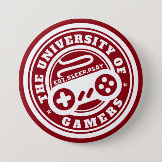 Red University of Gamers Seal Gaming Button