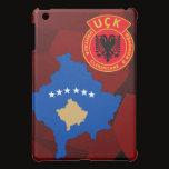 RED URBAN CAMO Kosovo Flag Map UCK_KLA iPad Mini Case