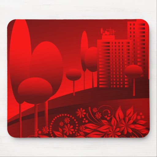 red urban mouse pads