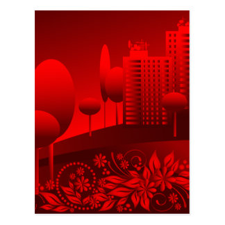 red urban postcard