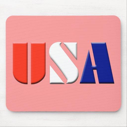 Red USA Mousepad