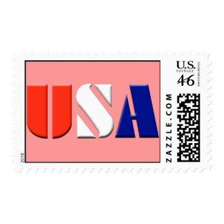 Red USA Postage Stamps