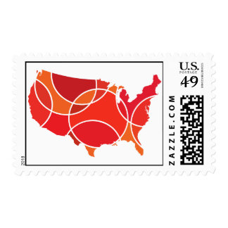 Red USA Stamps