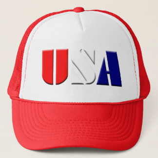 Red USA Truckers Hat