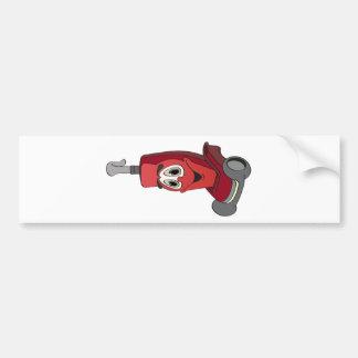 Red Vacuum Cleaner Bumper Sticker