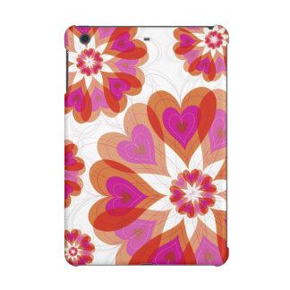 Red Valentine Flower Love Heart Blooms iPad Case
