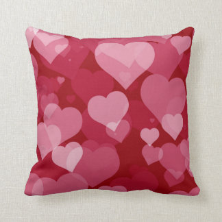 Red Valentine Hearts Throw Pillow