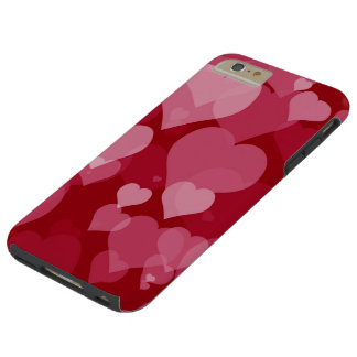 Red Valentine Hearts Tough iPhone 6 Plus Case
