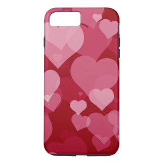 Red Valentine Hearts Tough iPhone 7 Plus Case