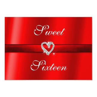 Red Valentine, Wedding, Sweet Sixteen  Invitation