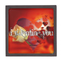 Red 'Valentine You' gifts and accessories Premium Keepsake Box