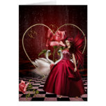 Red Valentine's Day Fairy Greeting Card