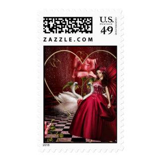 Red Valentine's Day Fairy Stamp