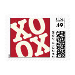 Red Valentine's Day Postage Stamps XOXO