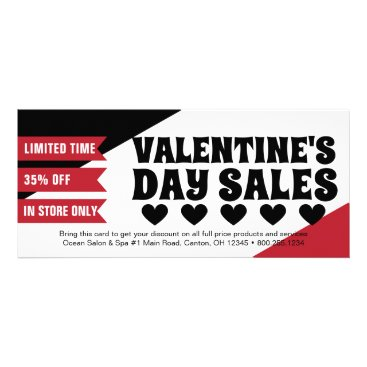 Professional Business Red Valentine's Day Sales Promo Rack Card