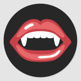 Red Vampire Mouth Sticker