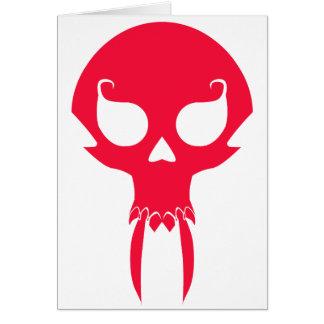 RED VAMPIRE SKULL CARDS