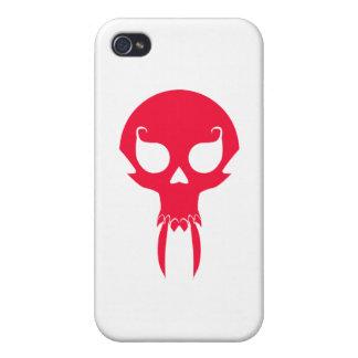 RED VAMPIRE SKULL CASES FOR iPhone 4