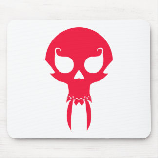 RED VAMPIRE SKULL MOUSE PAD
