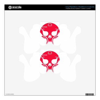 RED VAMPIRE SKULL SKINS FOR PS3 CONTROLLERS