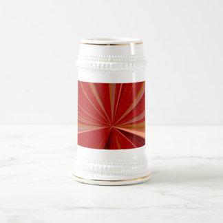 Red Vanishing Point Beer Stein 18 Oz Beer Stein