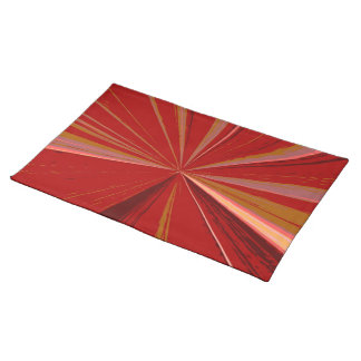 Red Vanishing Point Placemat