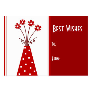 Red vase Best Wishes: Card Business Card Templates