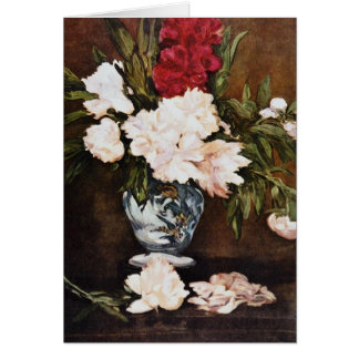 Red Vase of Peonies Edouard Manet flowers Greeting Cards
