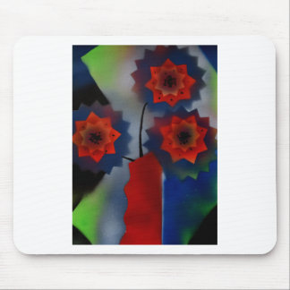 Red vase with flowers mouse pad