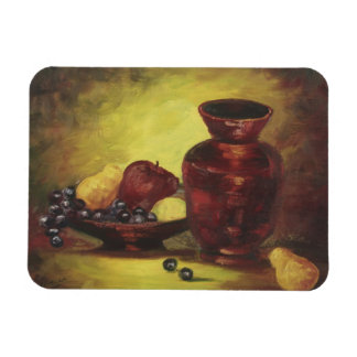 Red Vase with Fruit Magnet