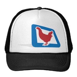 Red vector Chicken Trucker Hat