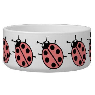 Red Vector Ladybug Pet Bowl