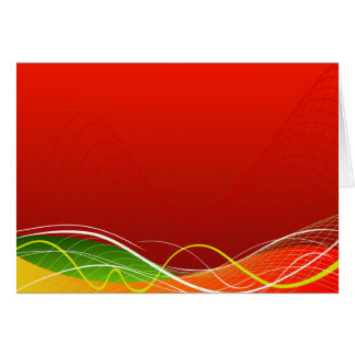 Red vector rush.ai greeting card