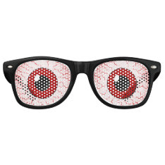 Red Veins Vampire Eyes Halloween Party Costume Retro Sunglasses at Zazzle
