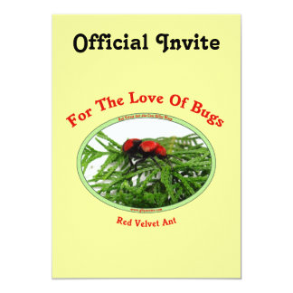 Red Velvet Ant Love Bugs Card