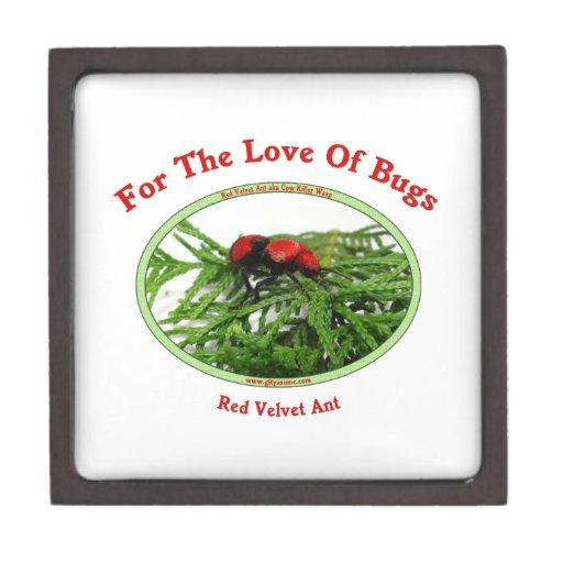 Red Velvet Ant Love Bugs Premium Keepsake Box