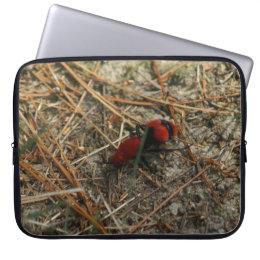 Red Velvet Ant Neoprene Laptop Sleeve. Laptop Sleeve