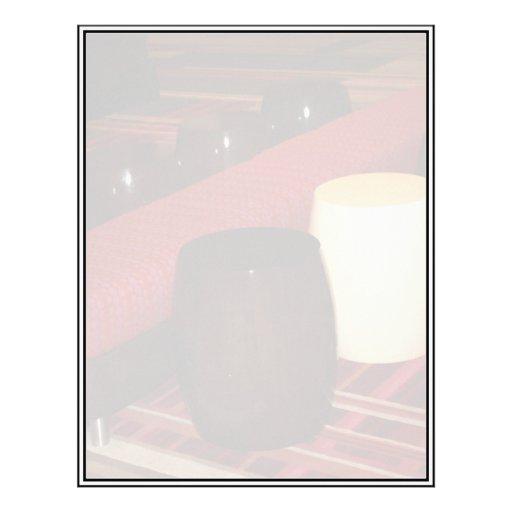Red Velvet Bench Seating Arrangement Letterhead