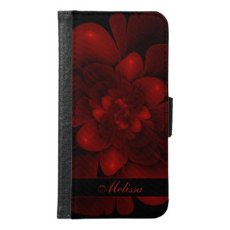 Red Velvet Bloom Wallet Phone Case For Samsung Galaxy S6