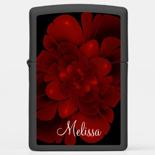 Red Velvet Bloom Zippo Lighter