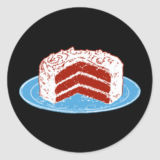 Red Velvet Cake Classic Round Sticker