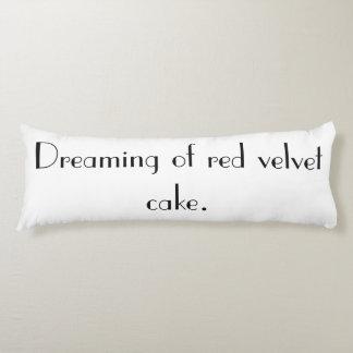 'Red Velvet Cake' Cotton Body Pillow
