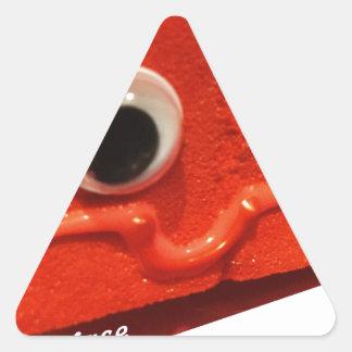 red velvet cake face w logo triangle sticker