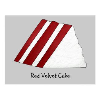 Red Velvet Cake Recipe Card Postcard
