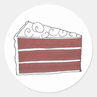 Red Velvet Cake Slice Dessert Food Foodie Stickers