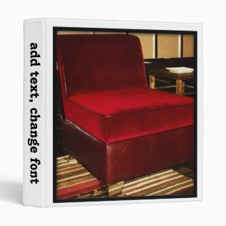 Red Velvet Chair 3 Ring Binder