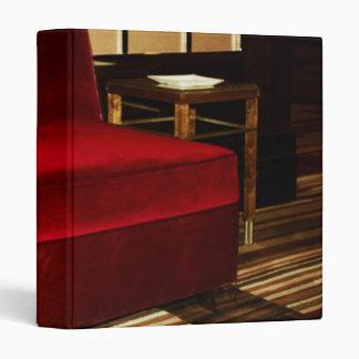 Red Velvet Chair Binder