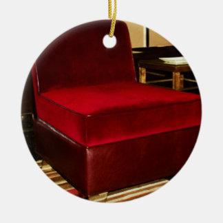 Red Velvet Chair Ceramic Ornament