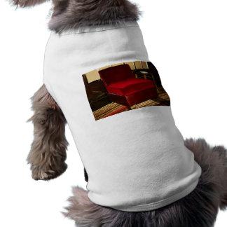 Red Velvet Chair Dog Tee Shirt