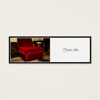 Red Velvet Chair Mini Business Card
